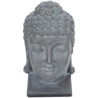 Σπίτι Αγαλματίδια και  Signes Grimalt Σχήμα Κεφάλι Του Βούδα. Gris
