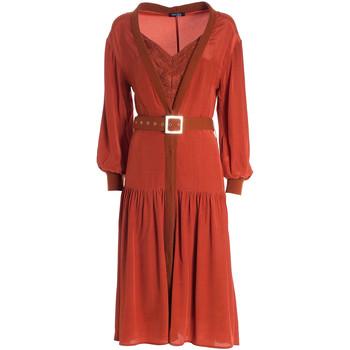 Υφασμάτινα Γυναίκα Μακριά Φορέματα Fracomina F321WD2004W41801 Πορτοκάλι