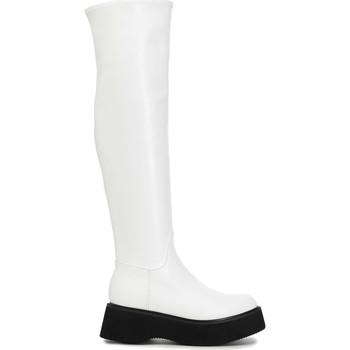 Παπούτσια Γυναίκα Ψηλές μπότες Café Noir FL9030 λευκό