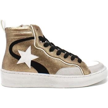 Παπούτσια Γυναίκα Ψηλά Sneakers Gold&gold B21 GB159 καφέ