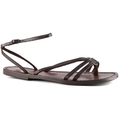 Παπούτσια Γυναίκα Σανδάλια / Πέδιλα Gianluca - L'artigiano Del Cuoio 535 D MORO CUOIO Testa di Moro