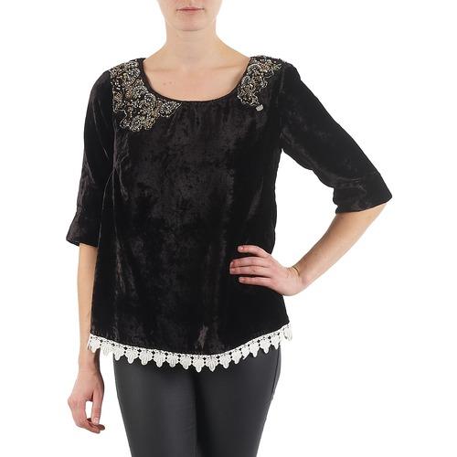 Υφασμάτινα Γυναίκα Μπλουζάκια με μακριά μανίκια Lollipops PILOW TOP Black