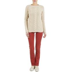 Υφασμάτινα Γυναίκα Παντελόνια Πεντάτσεπα Kulte PANTALON PLANCHER 101819 ROUGE Red