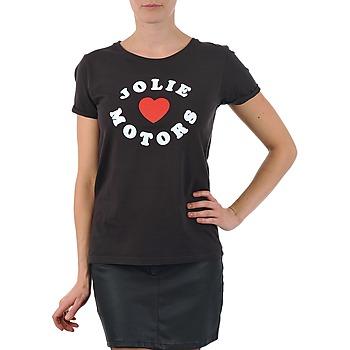 Υφασμάτινα Γυναίκα T-shirt με κοντά μανίκια Kulte LOUISA JOLIEMOTOR 101954 NOIR Black