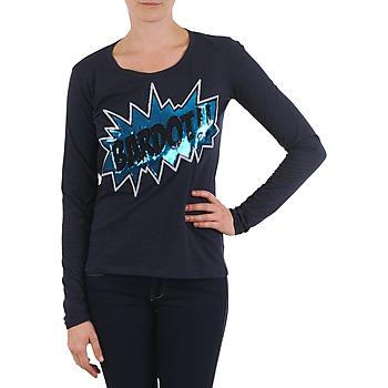 Υφασμάτινα Γυναίκα Μπλουζάκια με μακριά μανίκια Brigitte Bardot BB43130 μπλέ