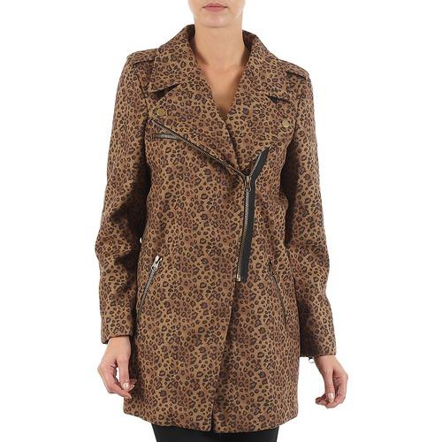 Υφασμάτινα Γυναίκα Παλτό Brigitte Bardot BB43110 Brown / Leopard