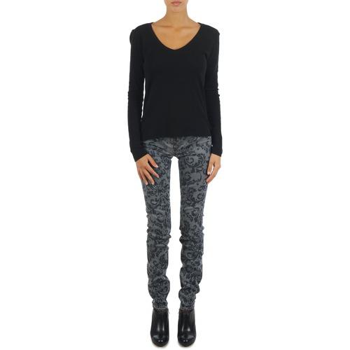 Υφασμάτινα Γυναίκα Skinny Τζιν  Gas TASCHE SUMATRA HIGH BLE BLACK Grey