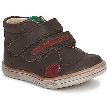 Παπούτσια Αγόρι Μπότες Kickers TAXI Brown / Red