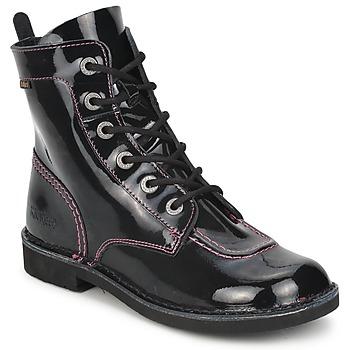 Παπούτσια Κορίτσι Μπότες Kickers KICK MOOD Black / VERNIS