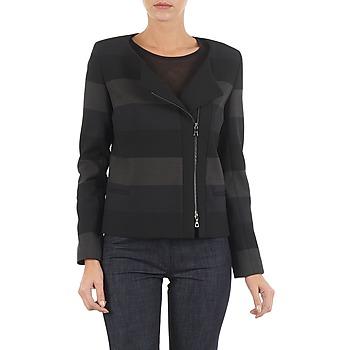 Υφασμάτινα Γυναίκα Σακάκι / Blazers Lola VIE DUP Black / Grey