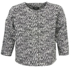 Υφασμάτινα Γυναίκα Σακάκι / Blazers Mexx MX3002331 Black / Άσπρο
