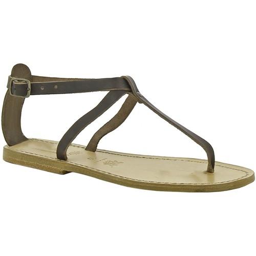 Παπούτσια Γυναίκα Σανδάλια / Πέδιλα Gianluca - L'artigiano Del Cuoio 582 D MORO LGT-CUOIO Testa di Moro