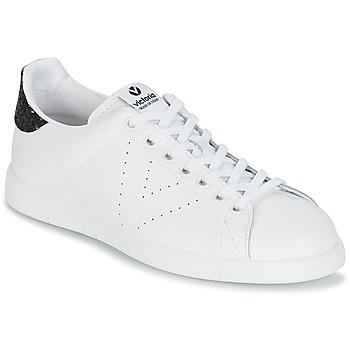 Παπούτσια Γυναίκα Χαμηλά Sneakers Victoria DEPORTIVO BASKET PIEL Άσπρο / Black