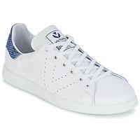 Παπούτσια Χαμηλά Sneakers Victoria DEPORTIVO BASKET PIEL Άσπρο / Μπλέ