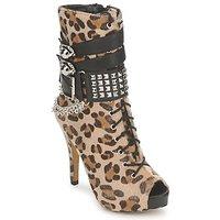 Παπούτσια Γυναίκα Μποτίνια Abbey Dawn PLATFORM BOOTEE Leopard / Print