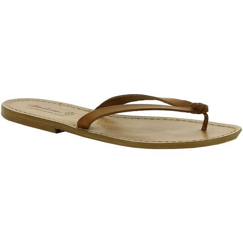 Παπούτσια Γυναίκα Τσόκαρα Gianluca - L'artigiano Del Cuoio 540 D CUOIO CUOIO Cuoio