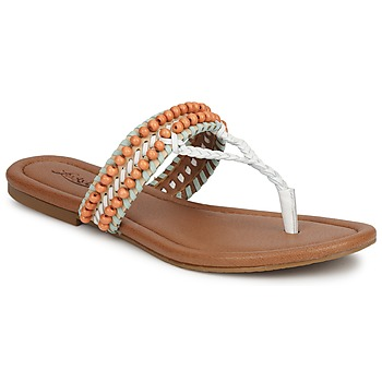 Παπούτσια Γυναίκα Σανδάλια / Πέδιλα Lucky Brand DOLLIS Nude / Ασπρό / Mint