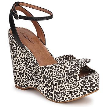 Παπούτσια Γυναίκα Σανδάλια / Πέδιλα Lucky Brand VIERA Μαυρο / Ασπρό