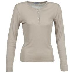 Υφασμάτινα Γυναίκα Μπλουζάκια με μακριά μανίκια Casual Attitude DORINE TAUPE