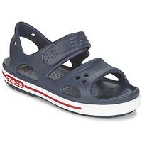 Παπούτσια Αγόρι Σανδάλια / Πέδιλα Crocs CROCBAND II SANDAL PS Marine / Άσπρο