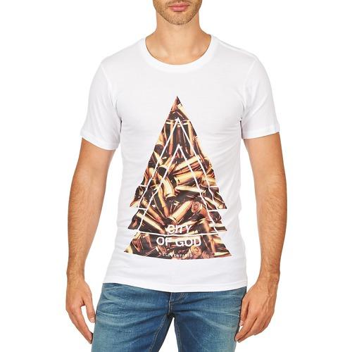 Υφασμάτινα Άνδρας T-shirt με κοντά μανίκια Eleven Paris CITYGOD M MEN Άσπρο