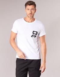 Υφασμάτινα Άνδρας T-shirt με κοντά μανίκια Eleven Paris LENNYPOCK MEN Άσπρο