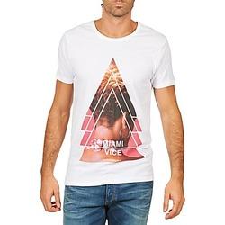 Υφασμάτινα Άνδρας T-shirt με κοντά μανίκια Eleven Paris MIAMI M MEN Άσπρο
