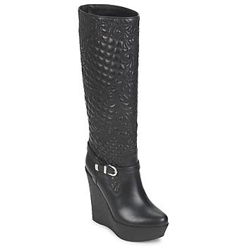 Παπούτσια Γυναίκα Μπότες για την πόλη Versace DSL909R Black