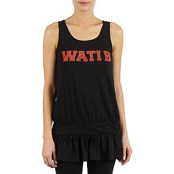 Υφασμάτινα Γυναίκα Αμάνικα / T-shirts χωρίς μανίκια Wati B TUNIQ Black