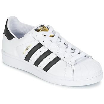 Παπούτσια Παιδί Χαμηλά Sneakers adidas Originals SUPERSTAR Άσπρο / Black