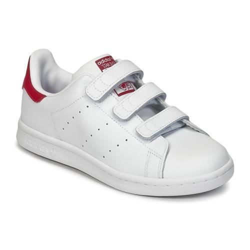 Παπούτσια Κορίτσι Χαμηλά Sneakers adidas Originals STAN SMITH CF C Άσπρο