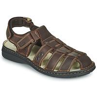 Παπούτσια Άνδρας Σανδάλια / Πέδιλα TBS BARROW Brown