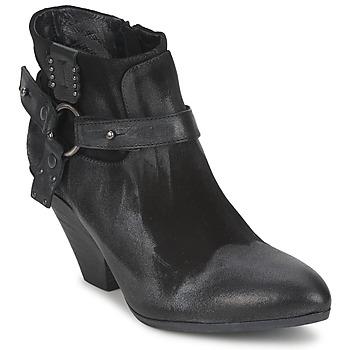 Παπούτσια Γυναίκα Χαμηλές Μπότες Strategia SANGLA Black   Argenté 873f888e80c
