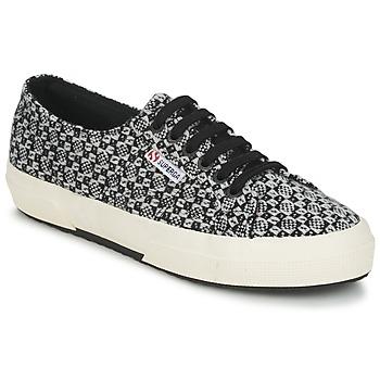 Παπούτσια Γυναίκα Χαμηλά Sneakers Superga 2750 FANTASY Black / Άσπρο