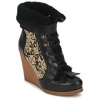 Παπούτσια Γυναίκα Μποτίνια Etro DENISE Black / Beige