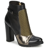 Παπούτσια Γυναίκα Μποτίνια Etro FEDRA Black / Kaki / Argenté