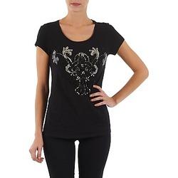 Υφασμάτινα Γυναίκα T-shirt με κοντά μανίκια S.Oliver T-SHIRT MANCHES COUR Black