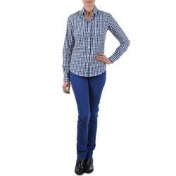 Υφασμάτινα Γυναίκα Τζιν σε ίσια γραμμή Gant N.Y. KATE COLORFUL TWILL PANT μπλέ