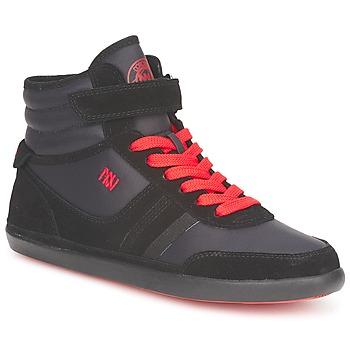 Παπούτσια Γυναίκα Ψηλά Sneakers Dorotennis MONTANTE STREET LACETS + VELCRO Black