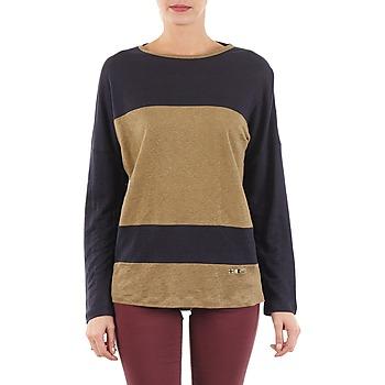 Υφασμάτινα Γυναίκα Μπλουζάκια με μακριά μανίκια TBS POOL Μπλέ / Beige