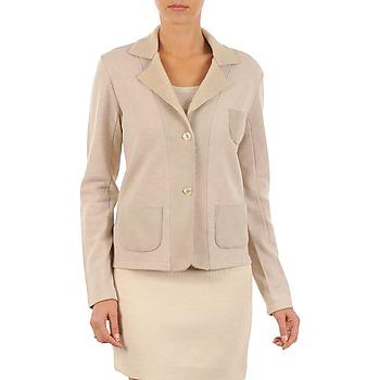 Υφασμάτινα Γυναίκα Σακάκι / Blazers Majestic 244 Beige