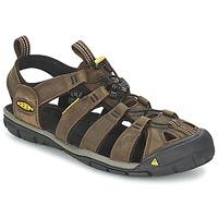 Παπούτσια Άνδρας Σπορ σανδάλια Keen CLEARWATER CNX LEATHER Brown / Black