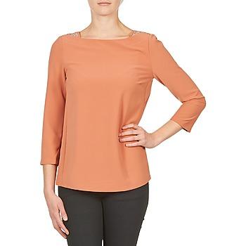 Υφασμάτινα Γυναίκα Μπλουζάκια με μακριά μανίκια Color Block 3214723 Corail