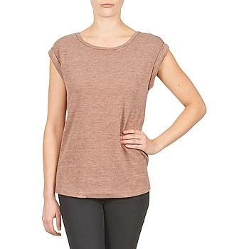 Υφασμάτινα Γυναίκα T-shirt με κοντά μανίκια Color Block 3203417 Vieux / Ροζ / Chiné / Grey
