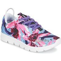 Παπούτσια Γυναίκα Χαμηλά Sneakers Superdry SUPERDRY SCUBA RUNNER Ροζ / Μπλέ