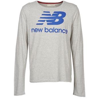 Υφασμάτινα Άνδρας Μπλουζάκια με μακριά μανίκια New Balance NBSS1403 LONG SLEEVE TEE Grey