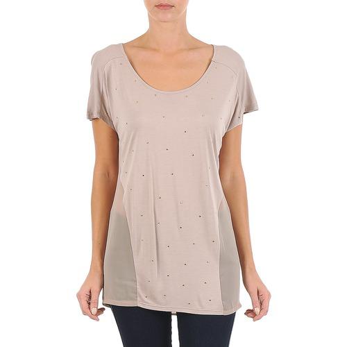 Υφασμάτινα Γυναίκα T-shirt με κοντά μανίκια La City MC BEIGE Beige