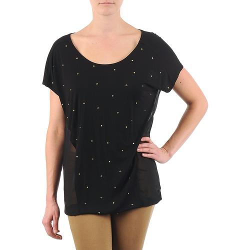 Υφασμάτινα Γυναίκα T-shirt με κοντά μανίκια La City MC NOIR Black