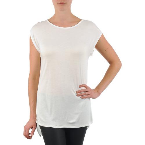Υφασμάτινα Γυναίκα T-shirt με κοντά μανίκια La City TS CROIS D6 Άσπρο