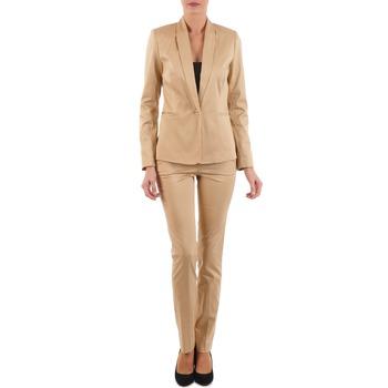 Υφασμάτινα Γυναίκα Παντελόνια Πεντάτσεπα La City PBASIC Beige